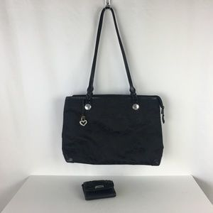 Brighton Black Mevelyn Swirl Large Tote Bag Wallet